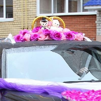 Чебоксары, свадебные кольца на машину 2