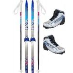 Беговые лыжи палки ботинки