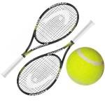 Ракетка для большого тенниса с мячом