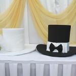 Свадебная шляпа украшение на машину